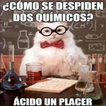 Como se despiden dos quimicos